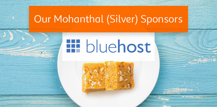 Bluehost is WordCamp Ahmedabad's Mohanthal (Silver) sponsor