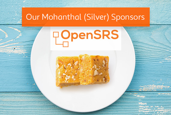 OpenSRS is our Mohanthal (Silver) Sponsor